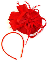 Load image into Gallery viewer, Fascinator Hat Red