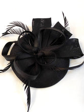 Load image into Gallery viewer, Fascinator Hat Black