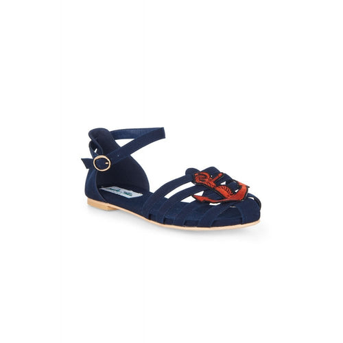 Lulu Hun Phoebe Anchor Sandals (Navy)
