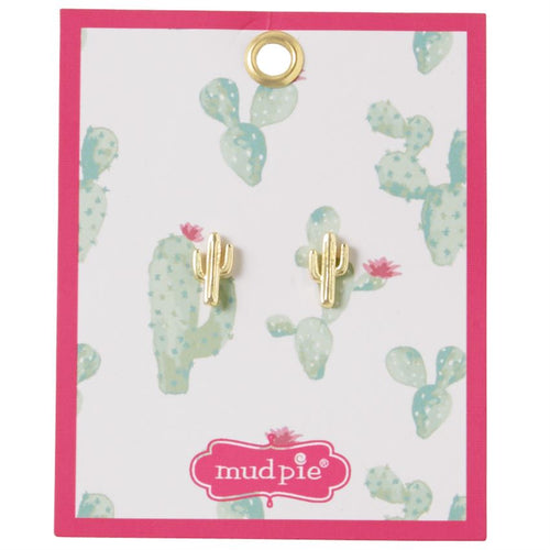 Mud Pie Paradise Earring Cactus
