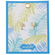 Load image into Gallery viewer, Mud Pie Paradise Earring Palm