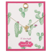 Load image into Gallery viewer, Mud Pie Paradise Necklace Cactus