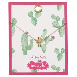 Mud Pie Paradise Necklace Cactus