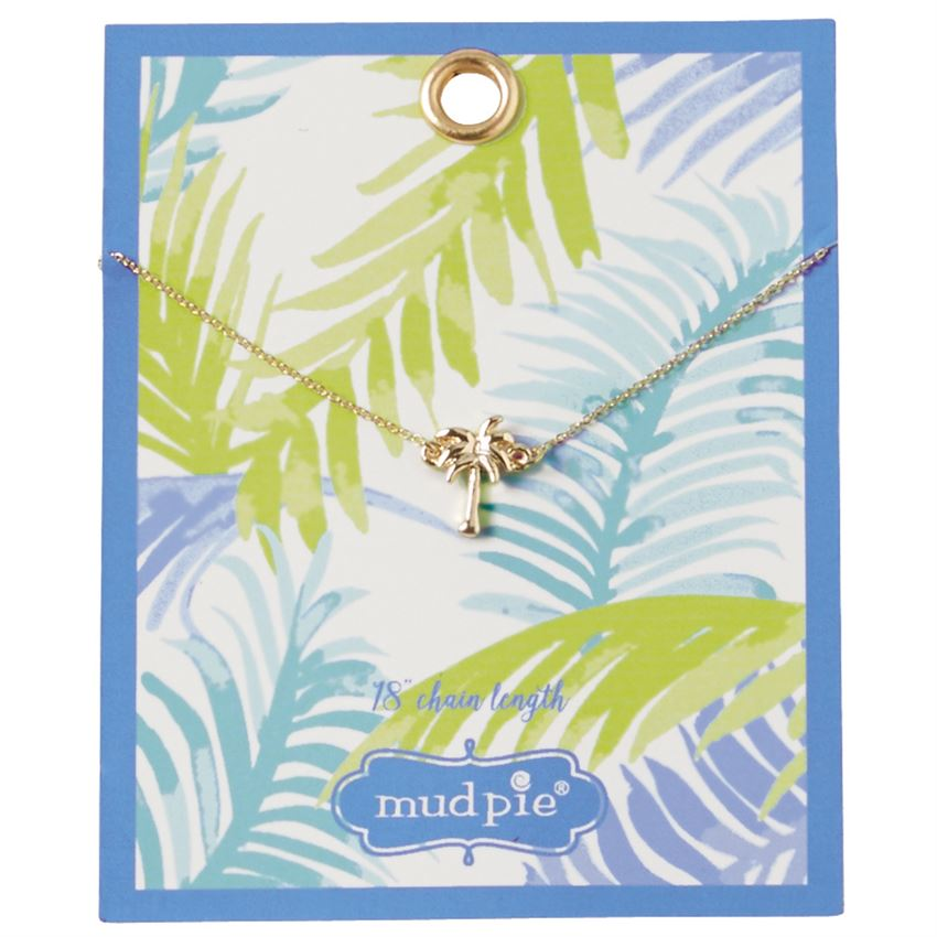 Mud Pie Paradise Necklace Palm