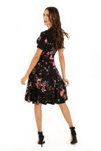 Load image into Gallery viewer, Miss Lulo Zoey Floral Dress Black