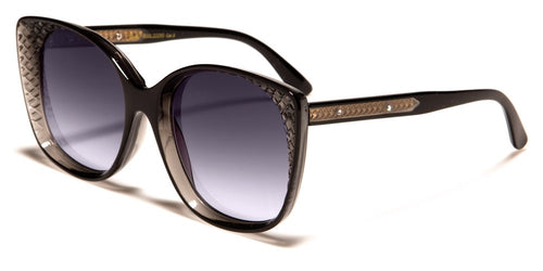 Winged Square Retro Sunglasses