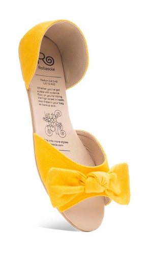Rollasole Here Comes The Sun Bow Flats Yellow