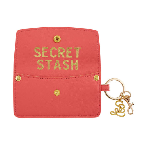 SB Credit Card Pouch Secret Stash Coral