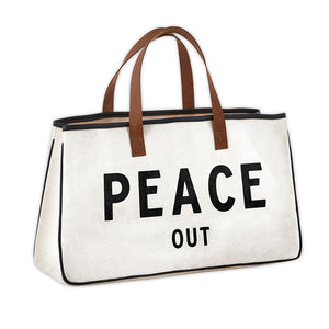SB Peace Out Canvas Tote