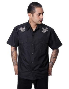 Steady Clothing Men's Sparrow Western Black