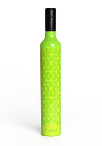 VI Wine Bottle Umbrella Botanical Green