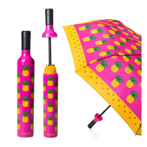 VI Wine Bottle Umbrella Pineapple Punch Fuchsia