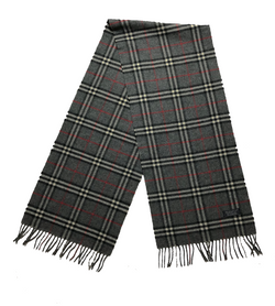 Burberry, 100% Cashmere Scarf, Dark Grey