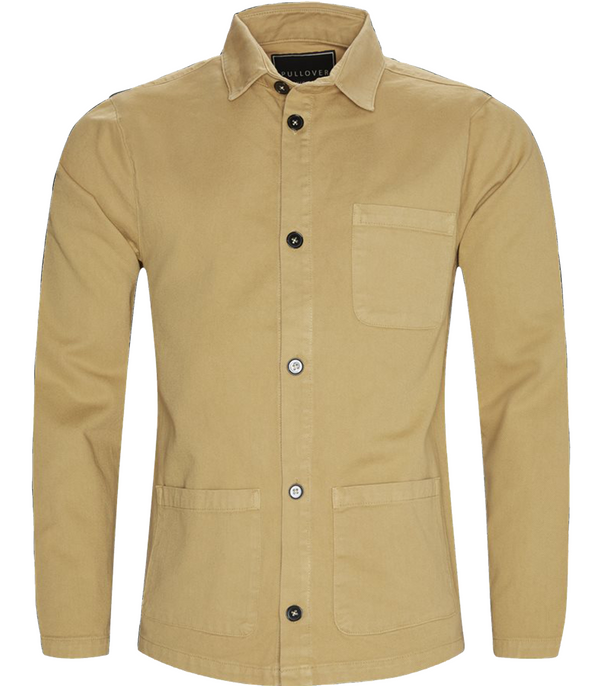 Pullover, Waiter Shirt Jacket, Camel