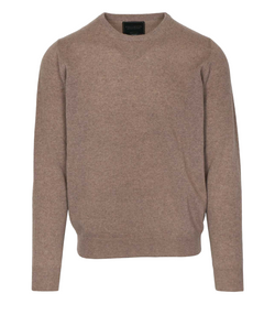 Pullover, Recycled Cashmere Knit, Camel
