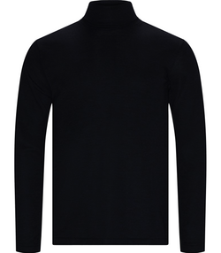 Pullover, Merino Roll Neck Knit, Black
