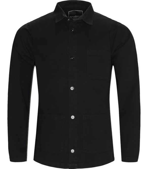 Pullover, Waiter Shirt Jacket, Black