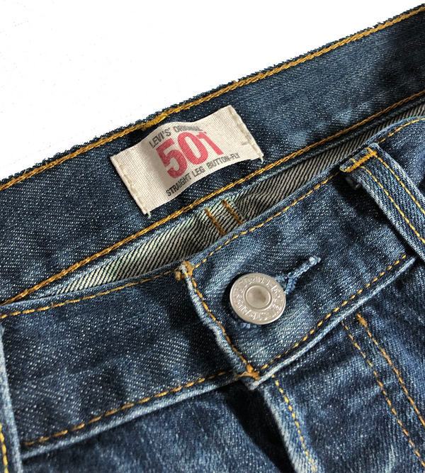 Levi's, 501 Original Fit Jeans, Mid Blue sz. 33/34