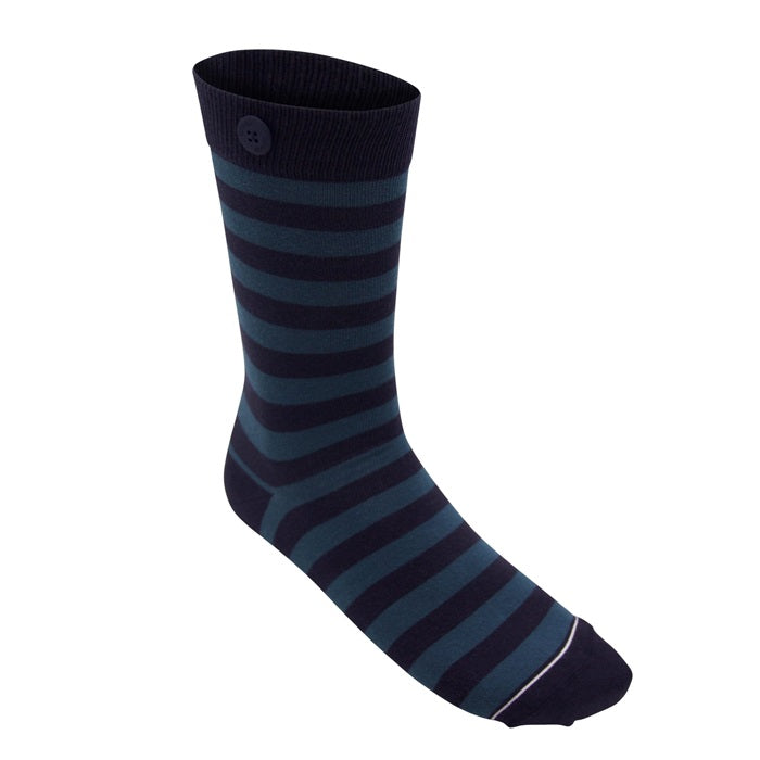 Qnoop, Plain Stripe, Navy & Sea Green
