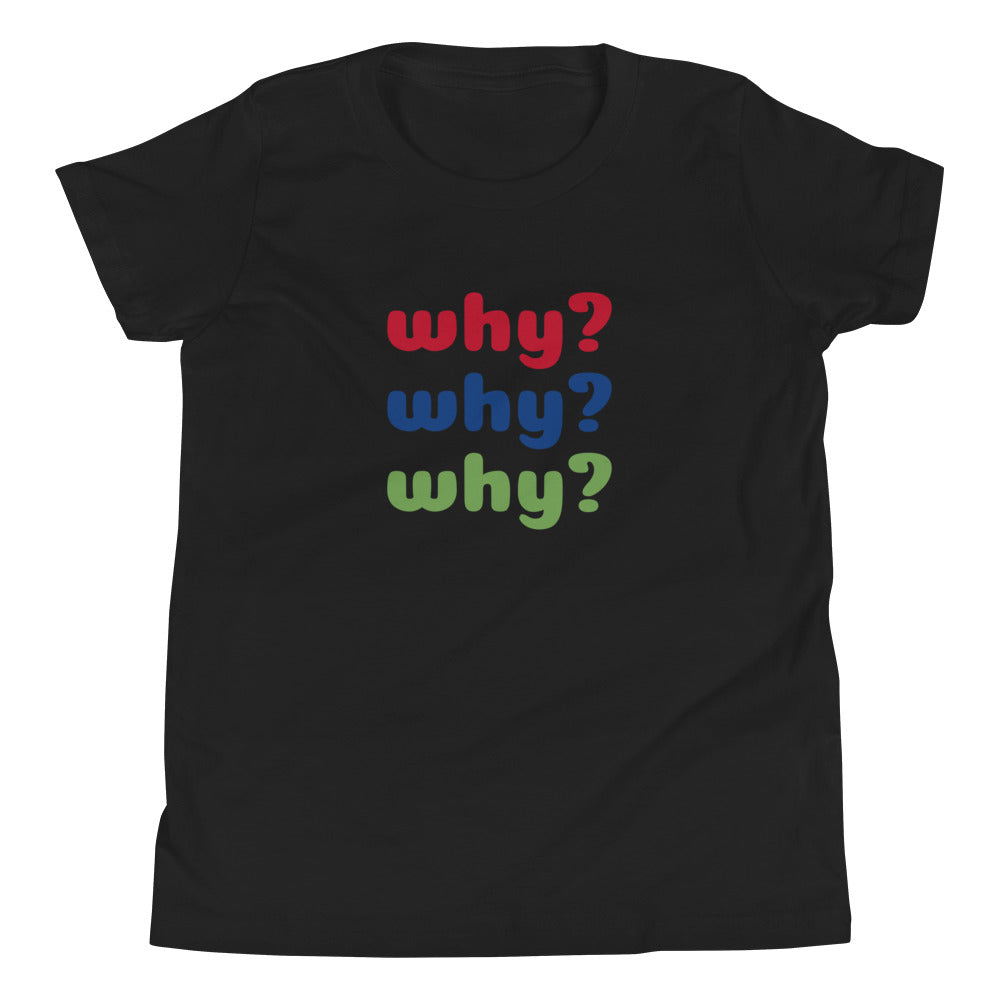 Why? Youth Short Sleeve Tee with Tear Away Label