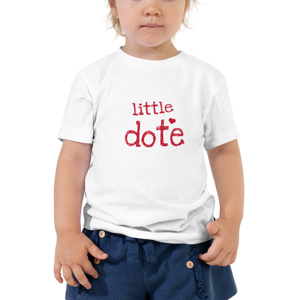 Little Dote Toddler Short Sleeve Tee with Tear Away Label