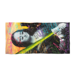 Mona Lisa Beach Towels