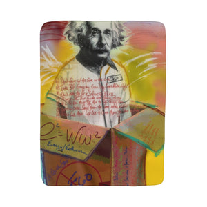 Einstein - Sherpa Fleece Blanket