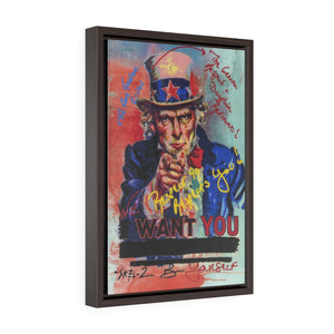 Uncle Sam- Framed Gallery Wrap Canvas