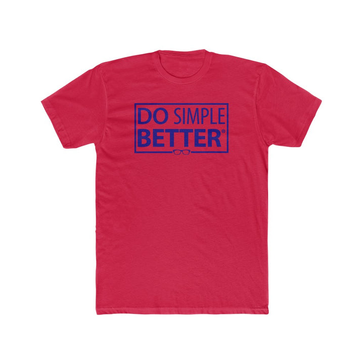 DO SIMPLE BETTER Cotton Crew Tee
