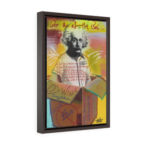 Einstein - Framed Gallery Wrap Canvas
