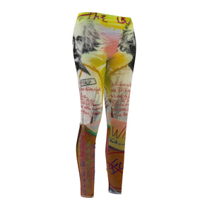 Maddon Art Albert Einstein Women's Cut & Sew Casual Leggings