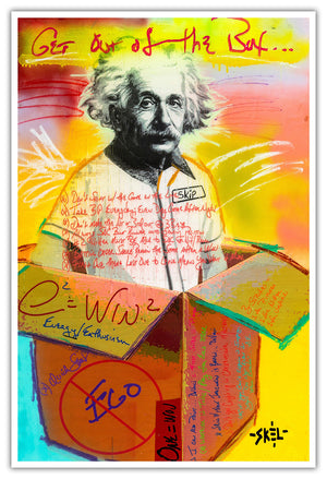 Einstein - Metallic Print