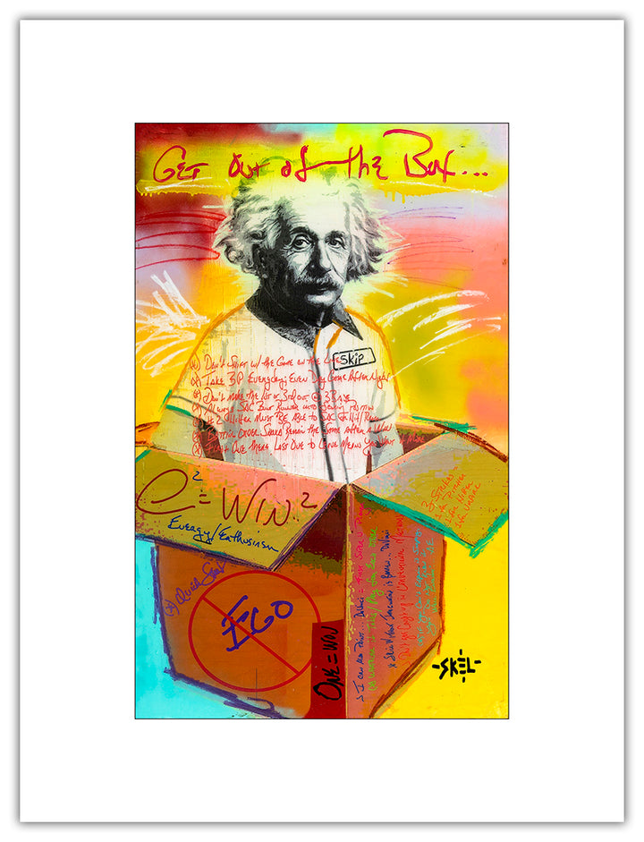 Einstein - Open Series Print