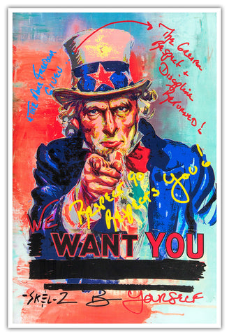 Uncle Sam - Metallic Print