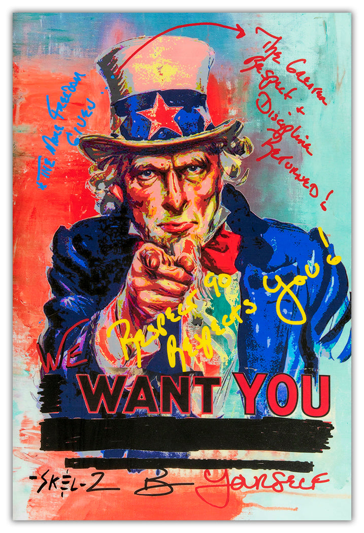 Uncle Sam - Metal Print
