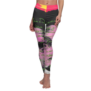 Maddon Muhammad Ali Themed Women's Casual Leggings