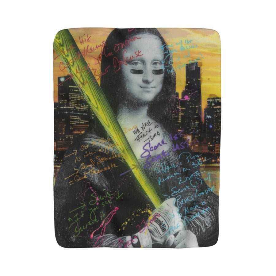 Mona Lisa - Sherpa Fleece Blanket