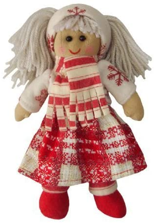 Rag Doll with Snowflake Dress & Scarf