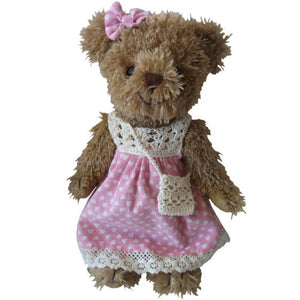 Teddy Bear with pink heart dress