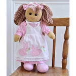 Rag Doll with Bunny Rabbit Embroidered Dress