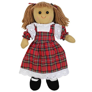 Rag Doll with Tartan Dress