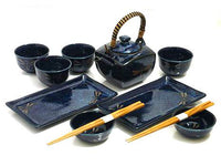 Sapphire Dragonfly Sushi and Tea Set
