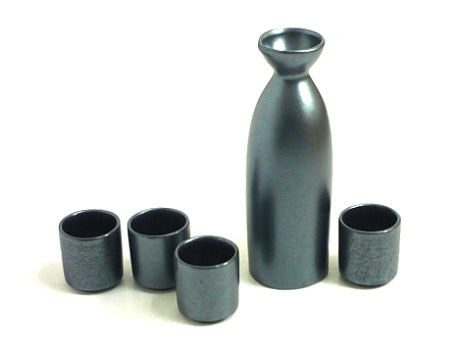 Black Crystal Sake Set