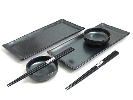 Black Crystal Sushi Set for Two