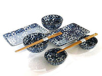 Blueberry Blossoms Sushi and Bowl Set