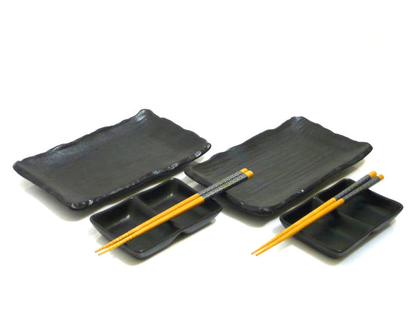 Black Smoke Japanese Sushi Set for 2