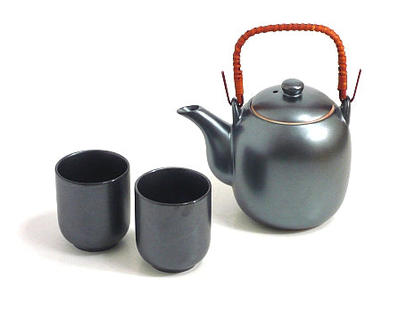 Black Crystal Tea Set