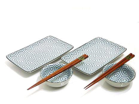Geometric Splendor Sushi Set for Two