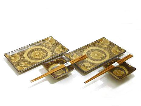 Golden Medallion Sushi Set for Two