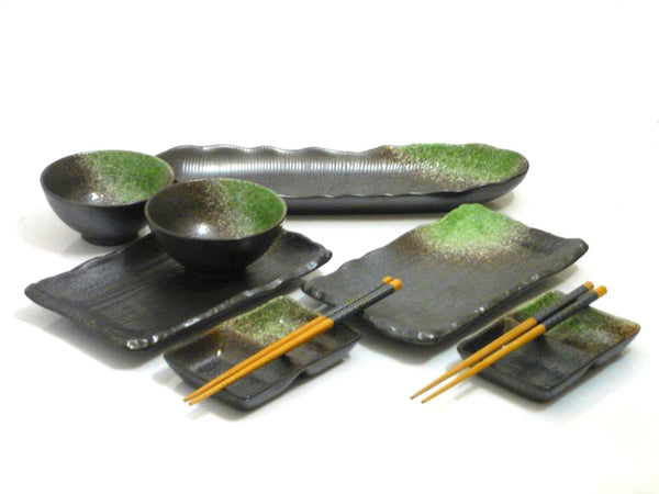 9 pc Green Passage Premier Sushi Serving Set